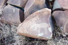 Wildebeest Kuils, Kimberly, Rock Engravings, Moon in The Man, Kalahari, 2009